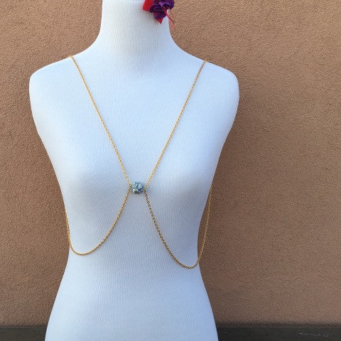 Beach Stone Gold Body Chain
