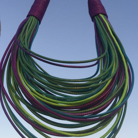 Multi-Colored String Necklace