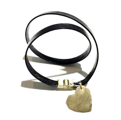 Heart Leather Snake Bracelet