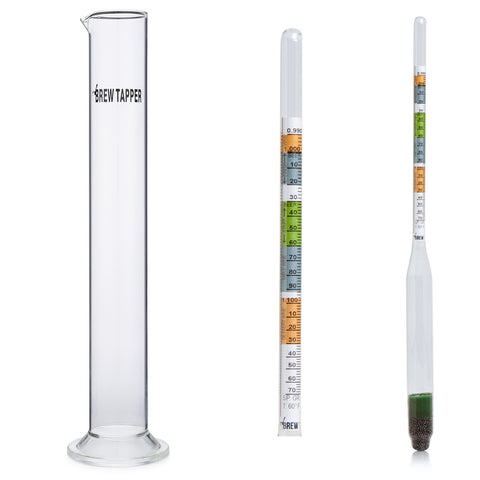 Brew Tapper Triple Scale Hydrometer with Glass Test Tube Combo