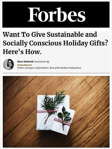 want to give sustainable and socially conscious holiday gifts?
