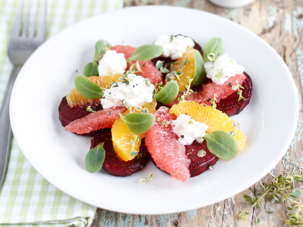 organic roasted beets and citrus salad