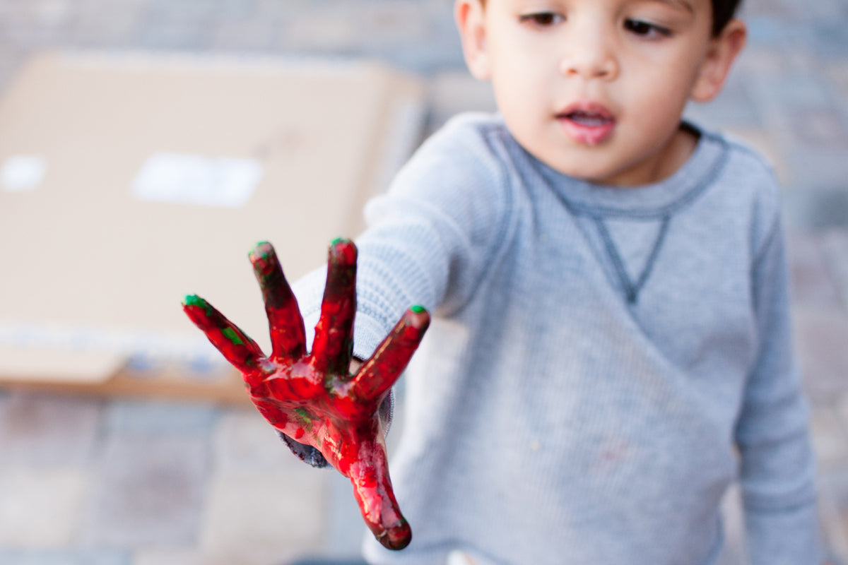 DIY Non-toxic Finger Paint for...