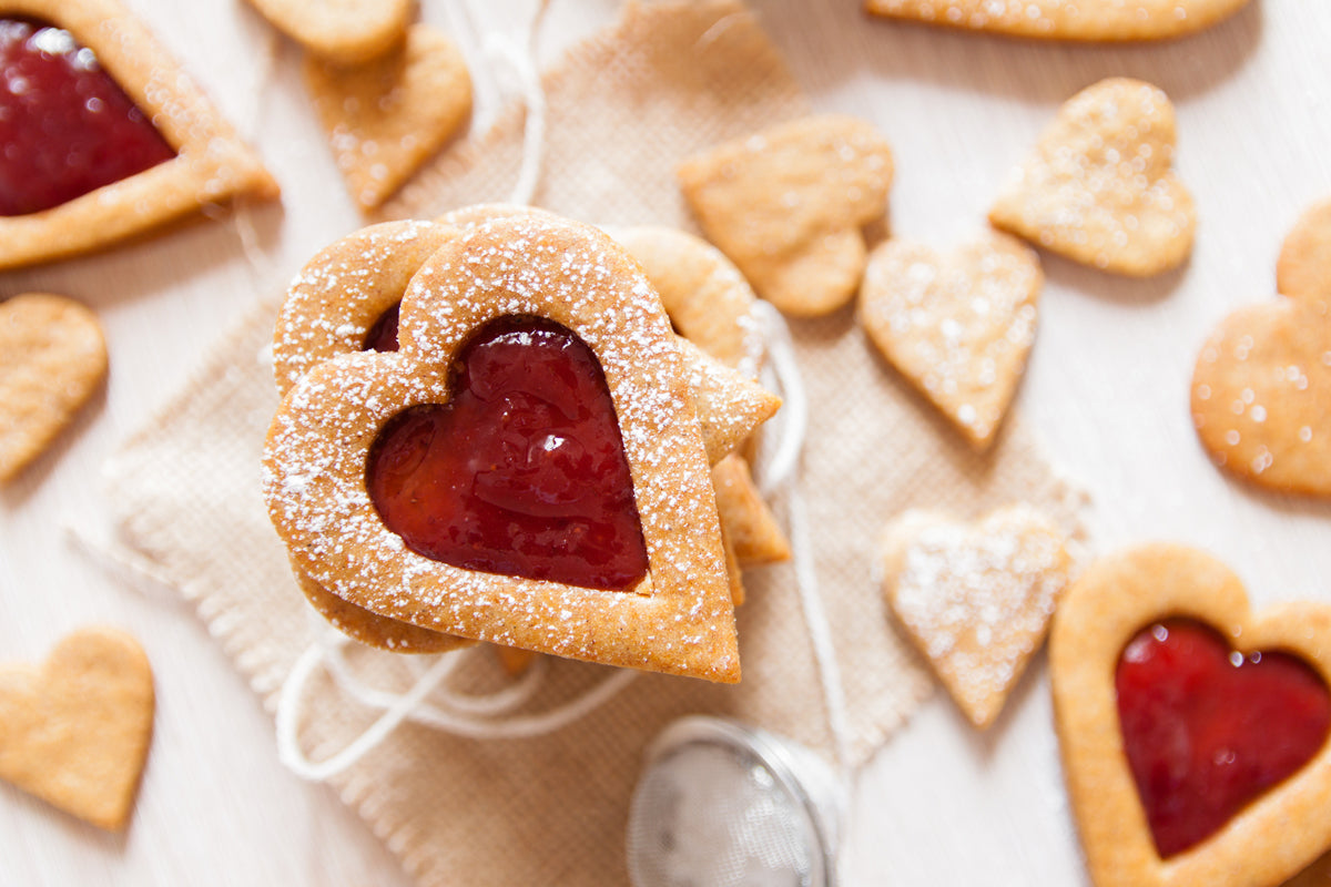Vegan Heart-Shaped Sugar Cookies