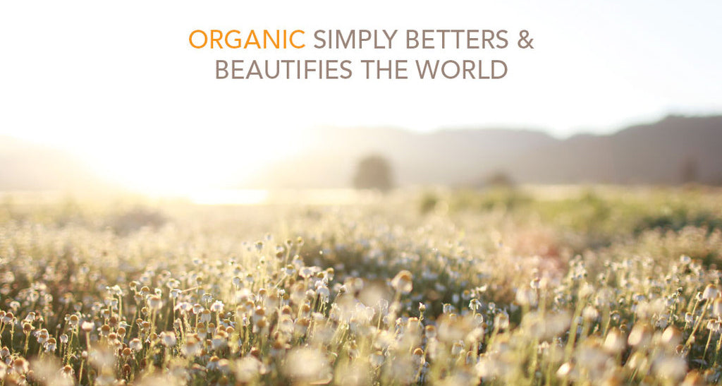 ORGANIC SIMPLY BETTERS & BEAUTIFIES THE WORLD