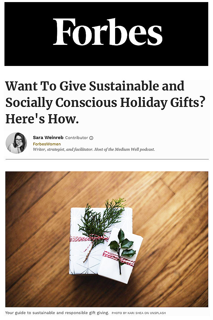 Forbes featuring erbaviva organic products as gifts