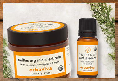 Sniffles chest balm and bath