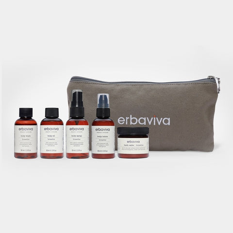 organic travel essentials Kit - breathe