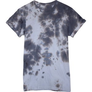 Rusted Grey Wash Grunged Hand Dyed Tee