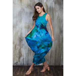 Aqua Maxi Dress - Masha Apparel