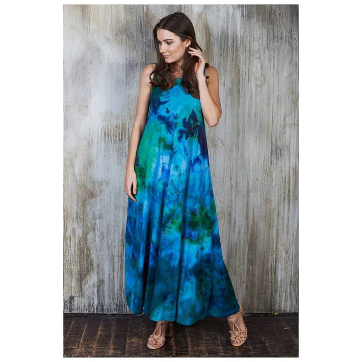 Aqua Maxi Dress - Masha Apparel Tie Dye Shirt