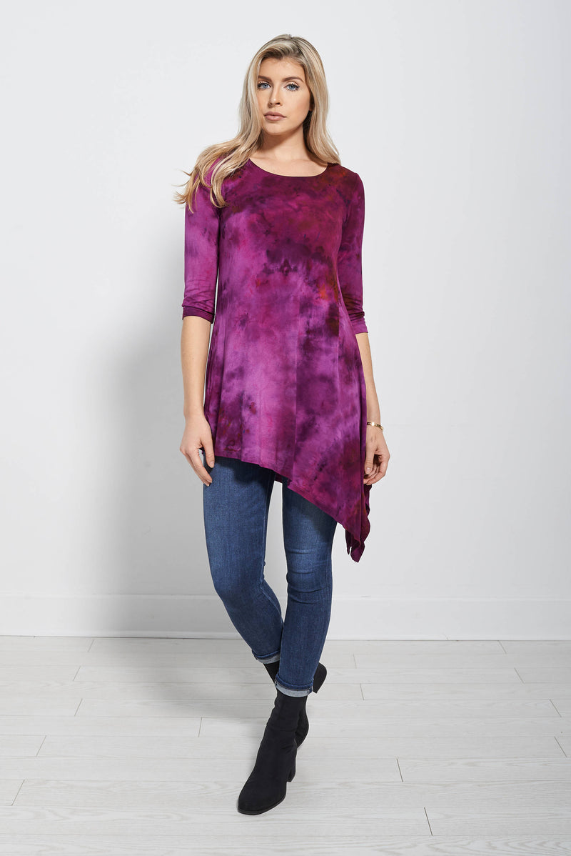 Asymmetrical tunic - Masha Apparel Tie Dye Shirt