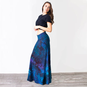 Constellation Galaxy Bamboo Maxi Skirt - Masha Apparel Tie Dye Shirt