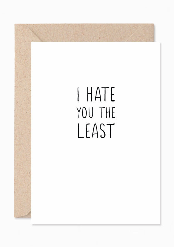 I Hate You The Least – by SUNDAYS a61fd009d588