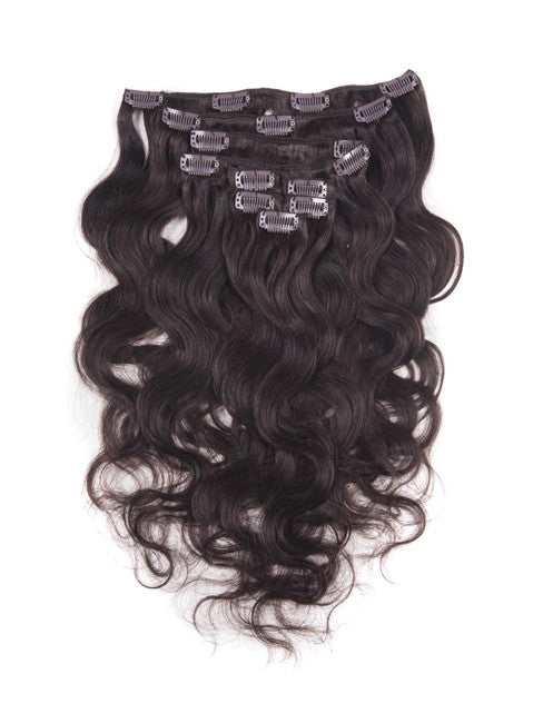 Exotica Collection 7 Piece Clip In Brazilian Body Wave Virgin Remy