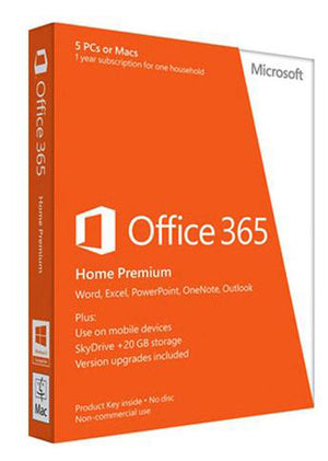 Microsoft Office 365 Home Premium 1 Yr - (5 PC or Mac) - ESD