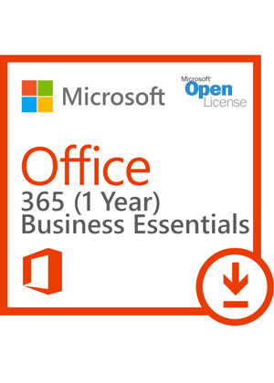 Microsoft Office 365 Business Essentials | Open License | 1 Year/1 User  license |