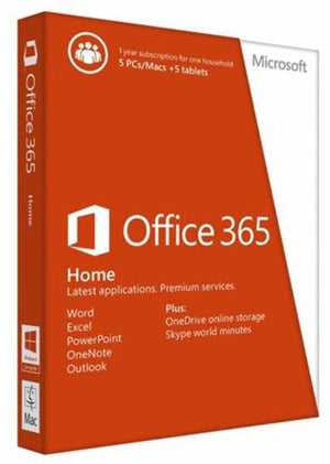 Microsoft Office 365 Home | 1 Yr subscription | PC OR MAC | - Enterprises Software Solutions