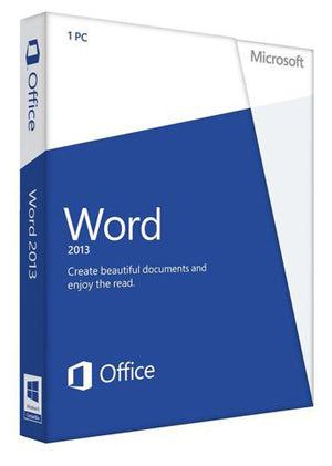 Microsoft Word 2013 License