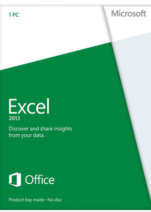 Microsoft Excel 2013 License Home Use Non Commercial - Enterprises Software Solutions