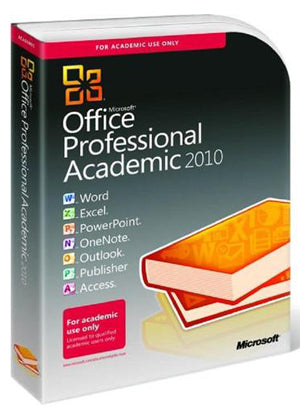 Microsoft Office 2010 Professional 3 PCs Academic - License