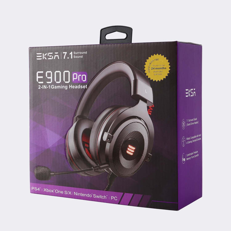 E900 Pro 7.1 Virtual Surround Sound Gaming Headset-USA Stock