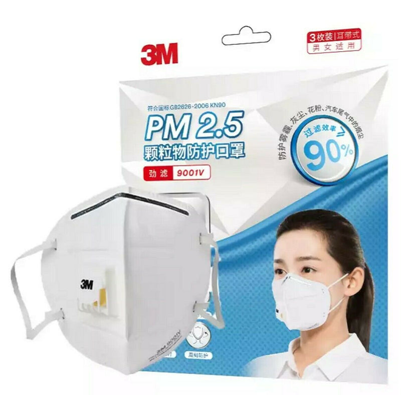 9001V N95  Disposable Mask with valve respirator (Pack of 5)