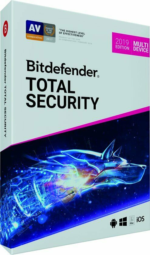 Bitdefender Total Security 2019 | 2 Year, 5 Device Subscription |