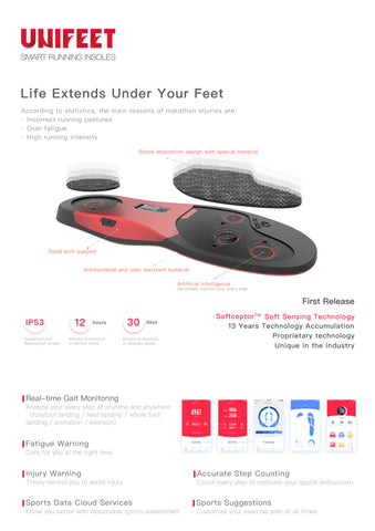 (10pcs )Smart Running Insoles with  USB and APP