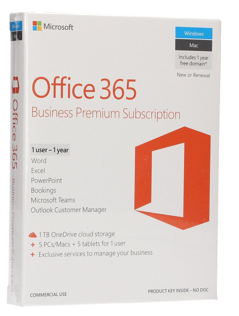 Microsoft Office 365 Business Premium | 1 user/1 year License (Retail) | Instant Download - Enterprises Software Solutions