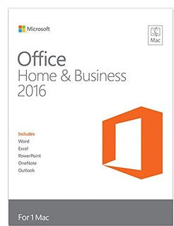 Microsoft Office 2016 MAC - Home and Business (1-MAC) - Box Pack (Medialess)