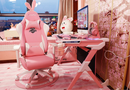 Modern Pink Gaming Table and Chair Set Combination for Boys and Girls