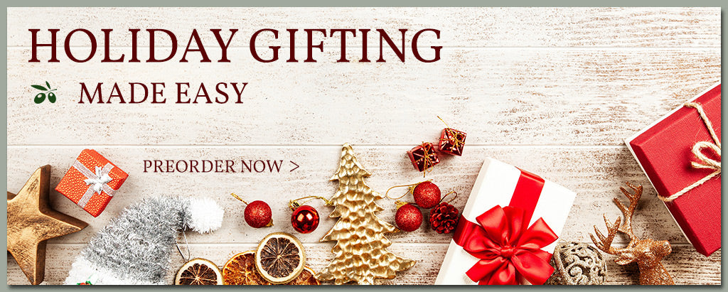 holiday shopping olive oil and vinegar gifts and collection sets georegtown olive oil co