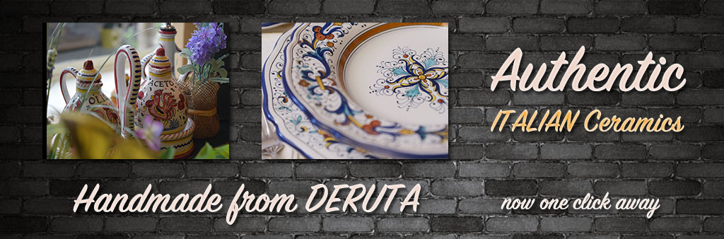 Handmade Italian Ceramics pottery from Deruta Georgetown Olive Oil Co.
