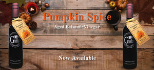 pumpkin spice aged balsamic vinegar from georgetown olive oil co