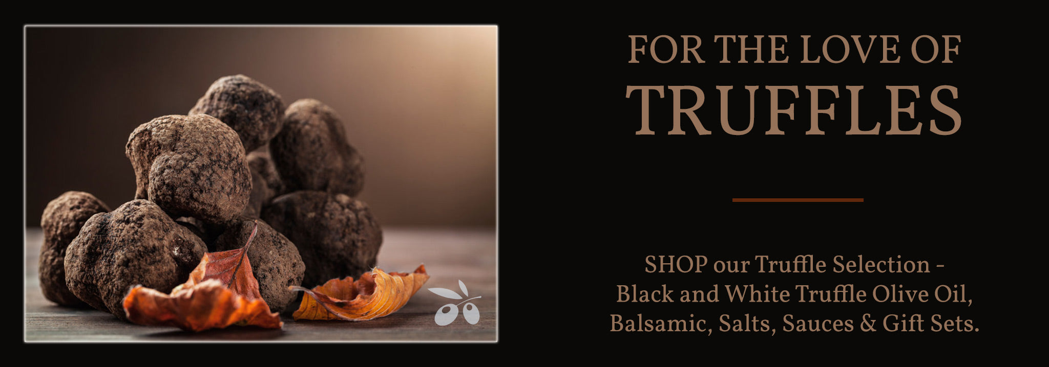 black and white truffle olive oil salts balsamic sauces mayo georgetown olive oil co.