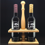 oil and vinegar wooden carrier set georgetown olive oil