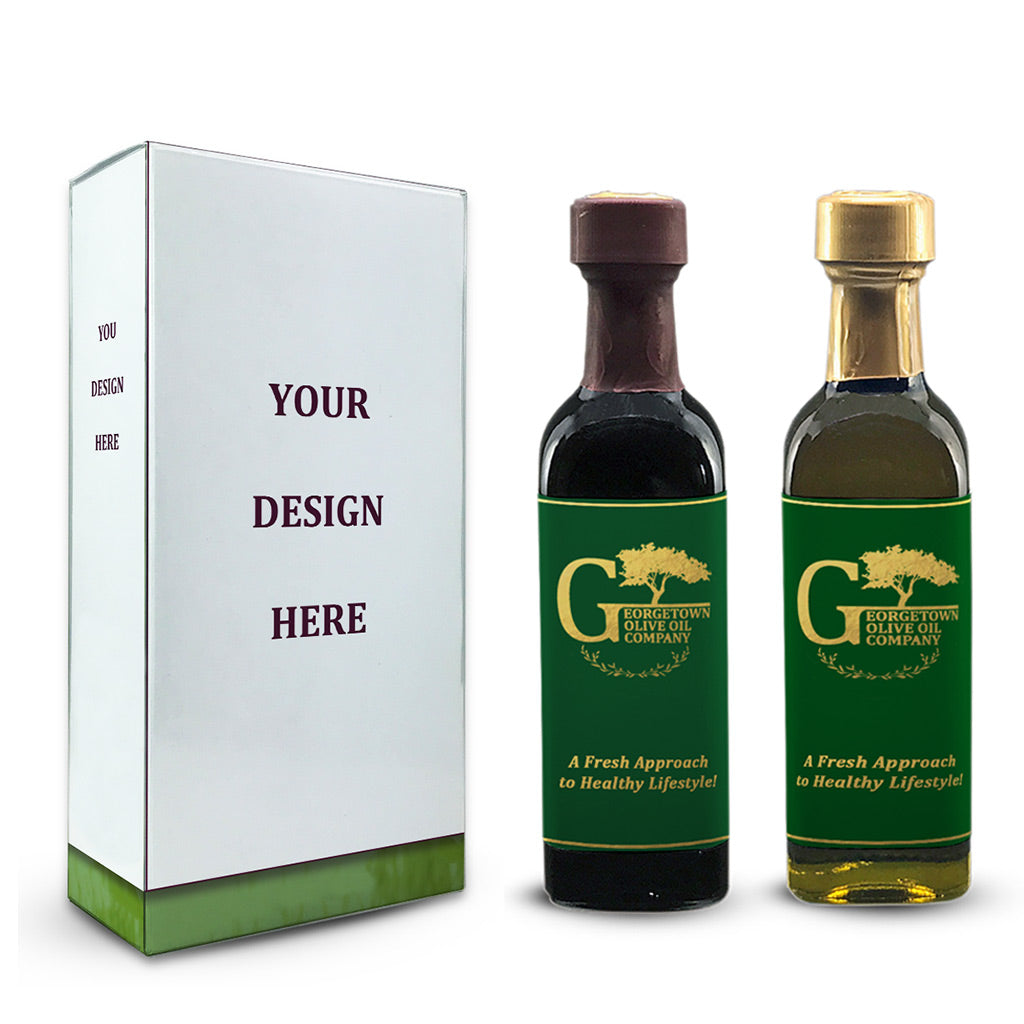 Wedding Favors Custom Box Olive Oil and Balsamic Vinegar Georgetown Olive Oil Co.