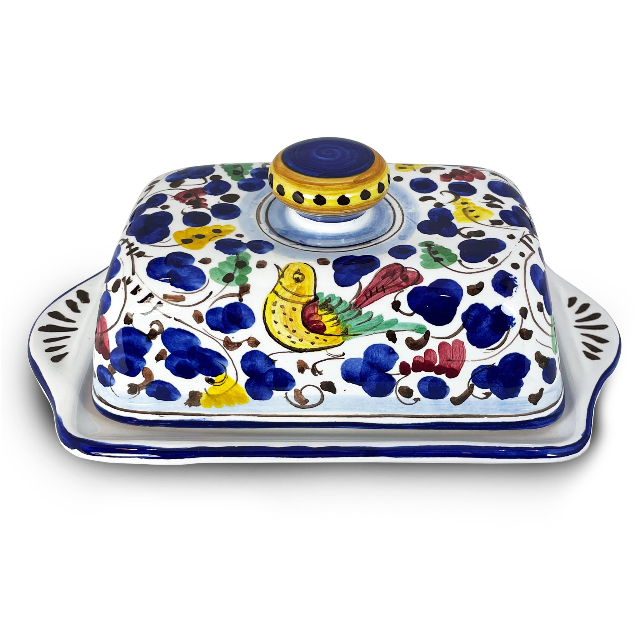 Butter Dish ARABESCO Italian Ceramics