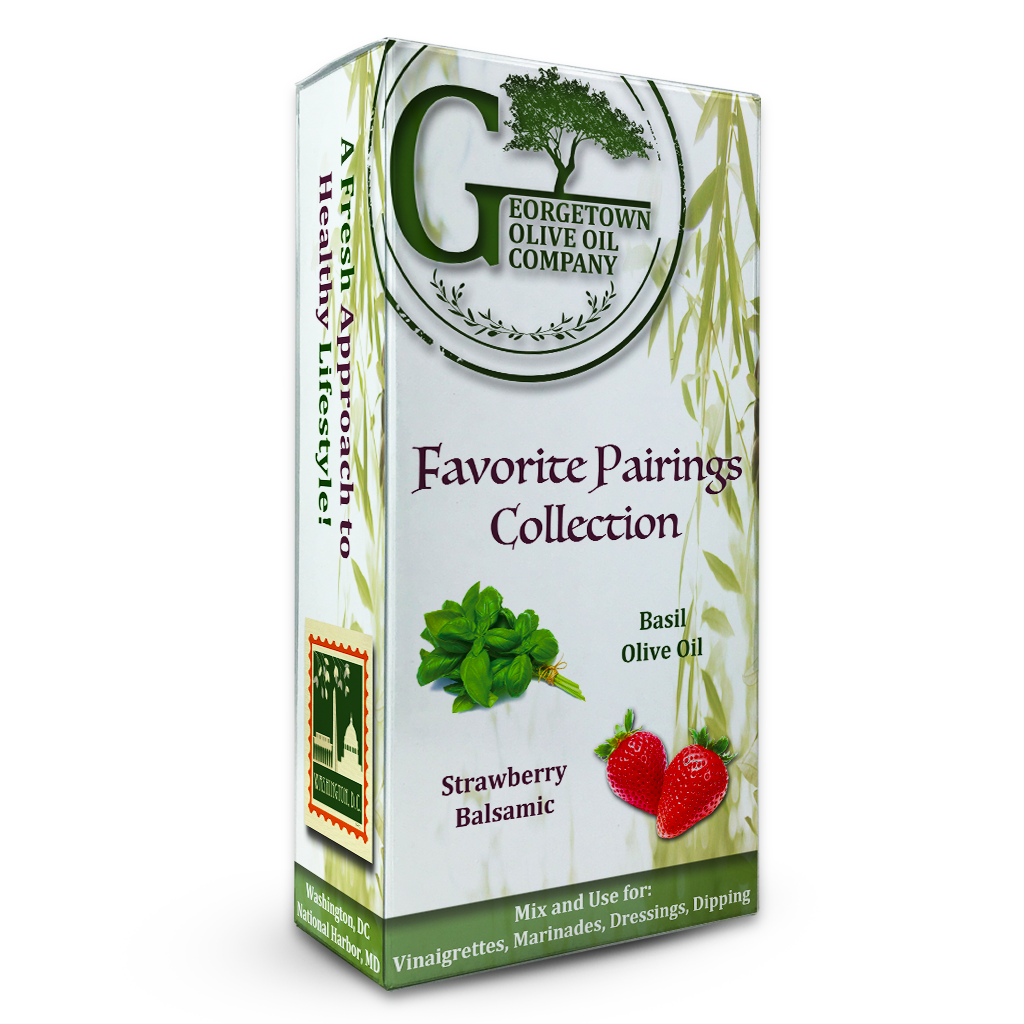 Basil & Strawberry Pairing - Georgetown Olive Oil Co.
