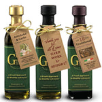 Bottle with a Tag Olive Oil and Balsamic Vinegar Party Favors