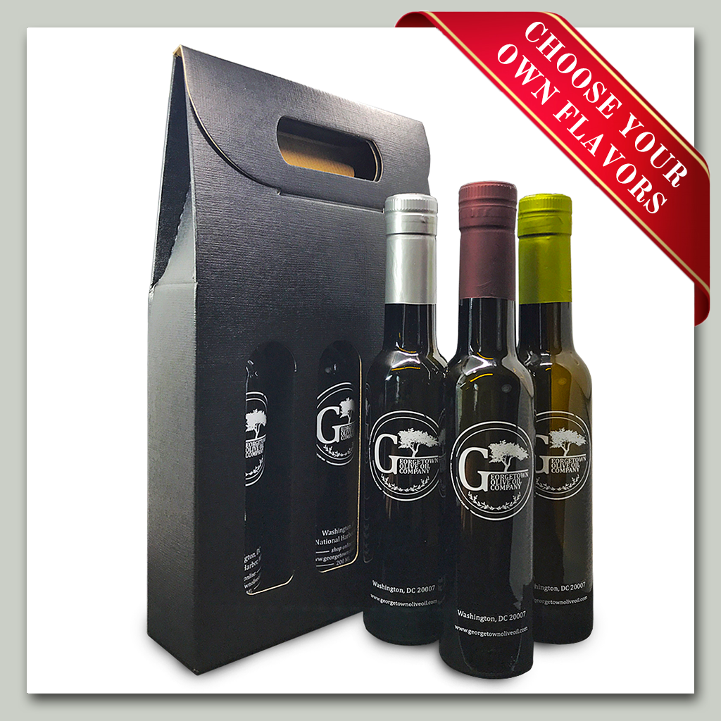 Oil and Vinegar Gift Set - 3 Bottles - Georgetown Olive Oil Co.