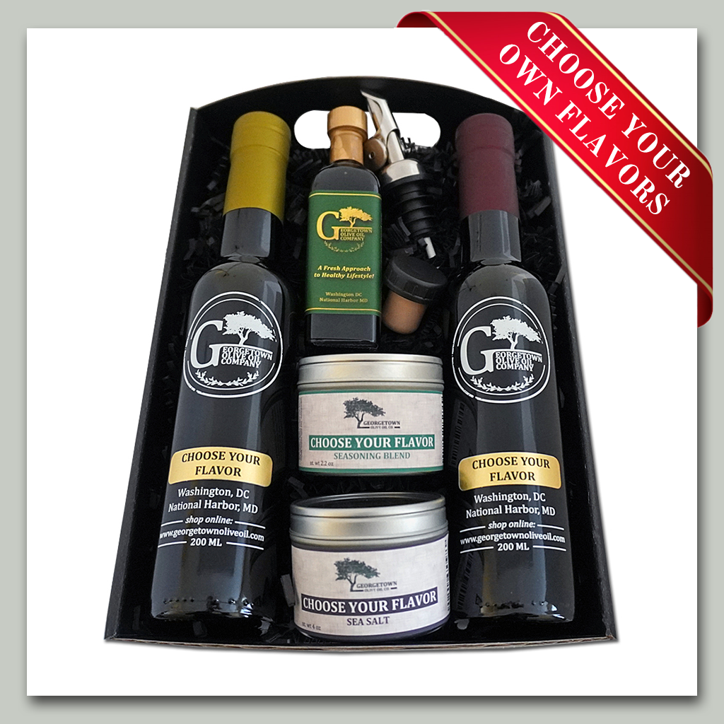 Premium Olive Oil and Balsamic Gift Tray Georgetown Olive Oil Co. Washington DC