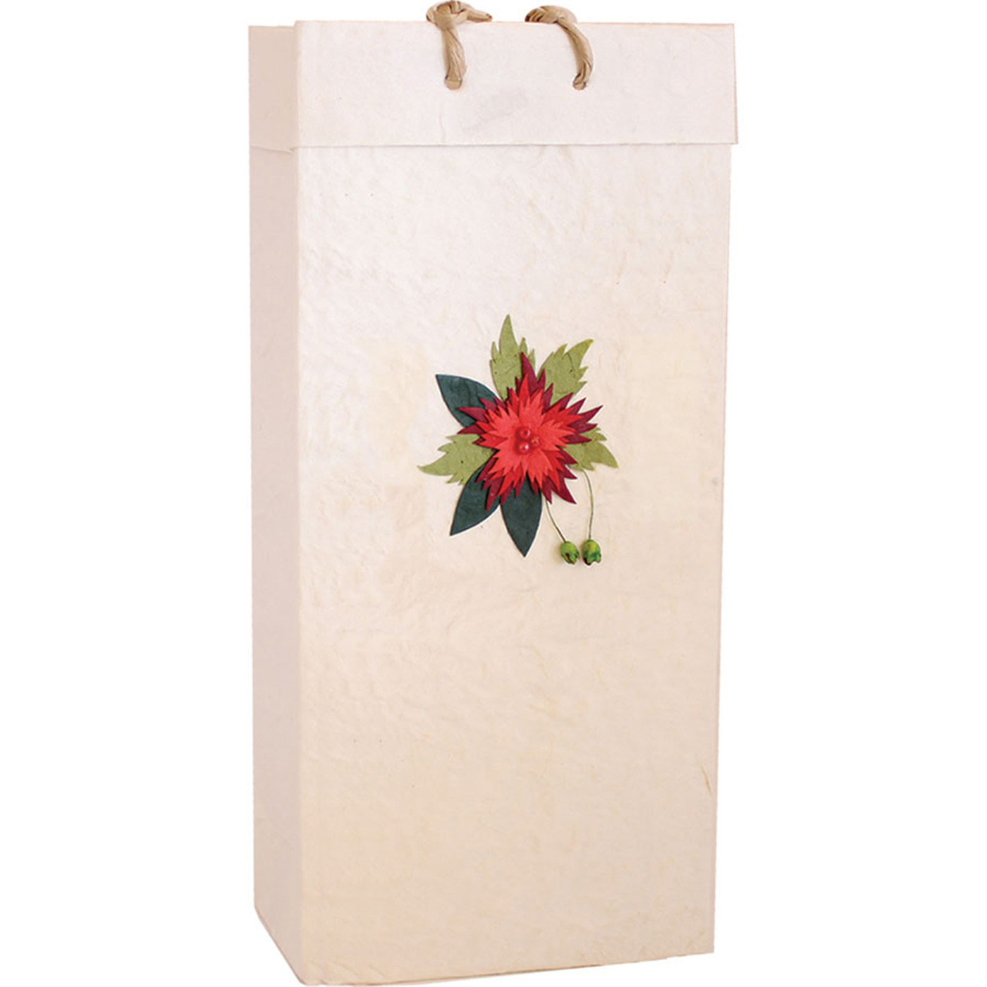 Olive Oil Gift Bags - Red Flower - Georgetown Olive Oil Co.
