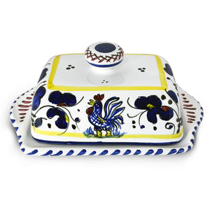 Butter Dish ORVIETO BLUE Authentic Ceramics Italy