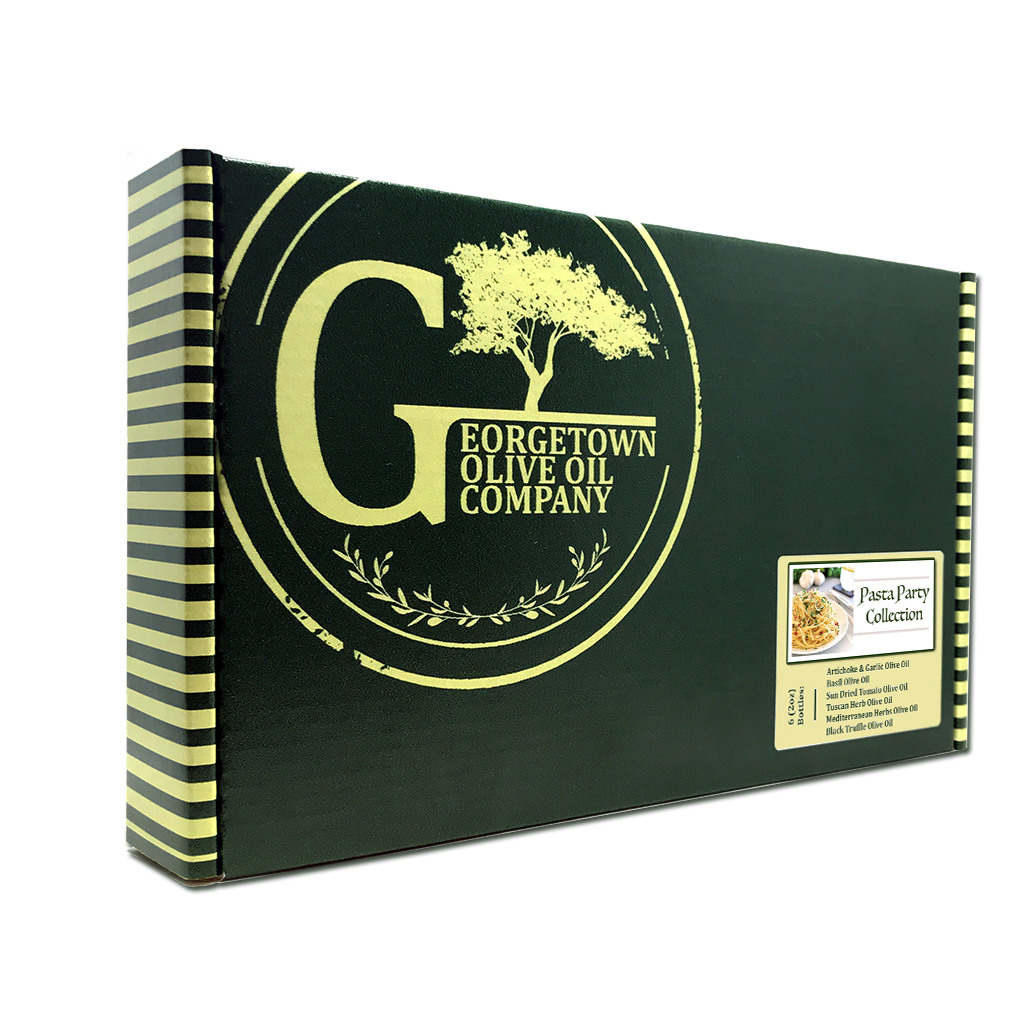Gift Collection with Infused Extra Virgin Olive Oil for pasta finishing and cooking from Georgetown Olive Oil Co.