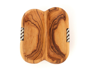 Olive Wood Double Dish - Georgetown Olive Oil Co.
