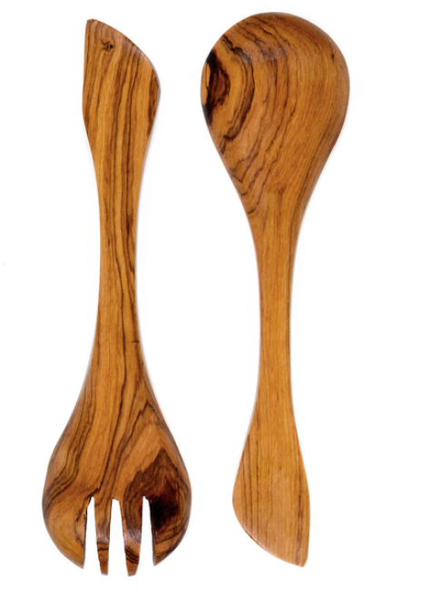 Spoon and Fork Set with Batik Bone