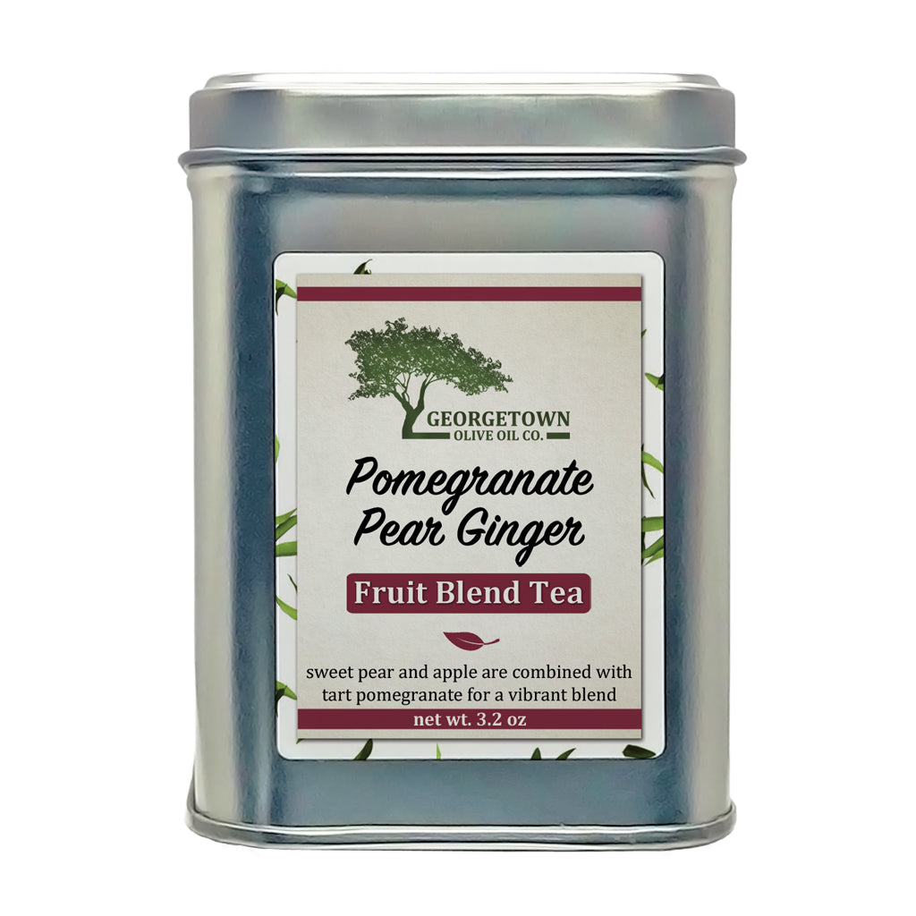 Pomegranate Pear Ginger Fruit Tea - Georgetown Olive Oil Co.