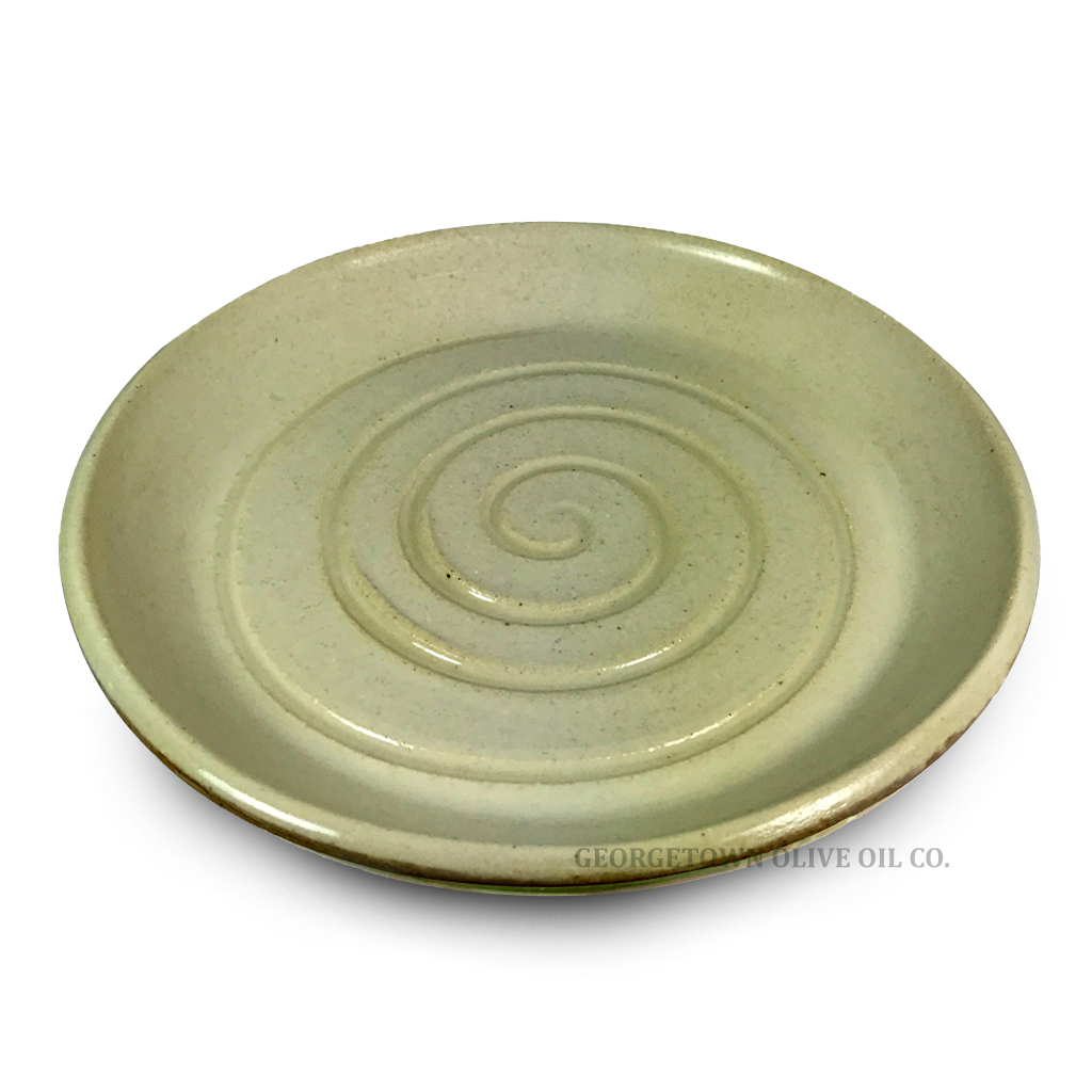 Handmade Olive Oil Dipping Plate - White - Georgetown Olive Oil Co.